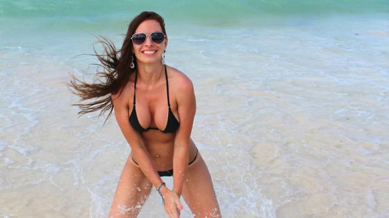 Фотографии покупательницы в мини бикини из солнечной Доминиканы!